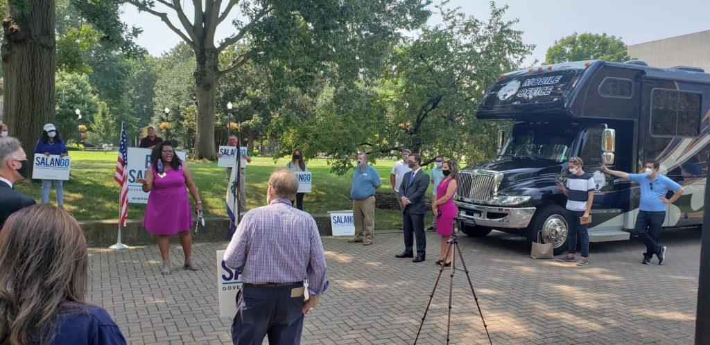 Delegate Danielle Walker addressed voters
