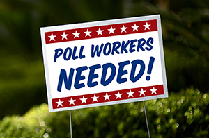 Poll workers needed image