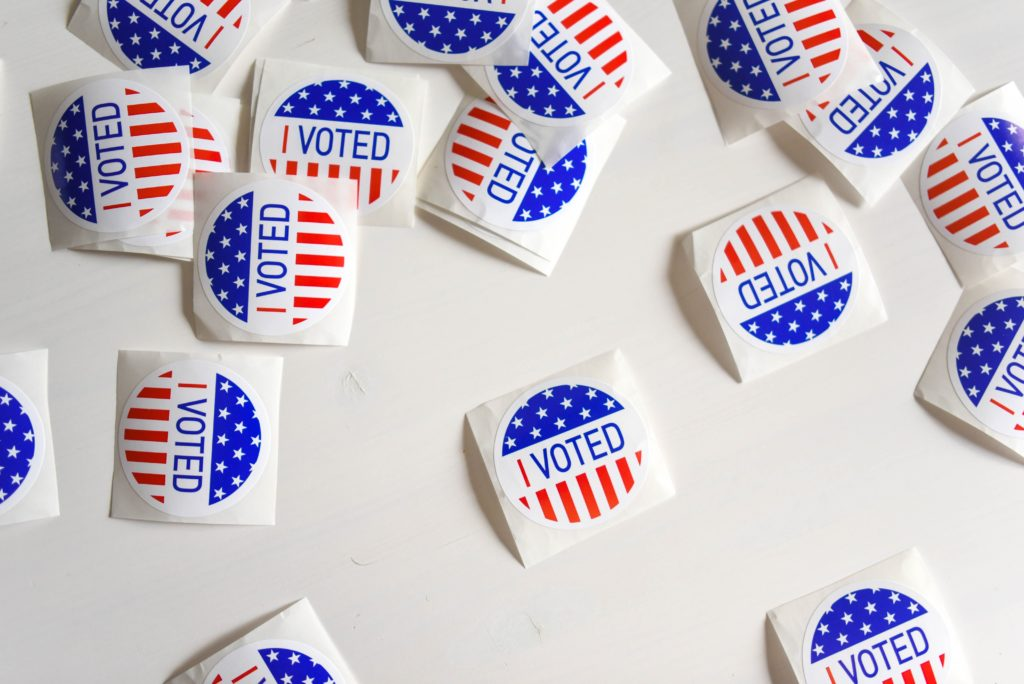 image of vote stickers