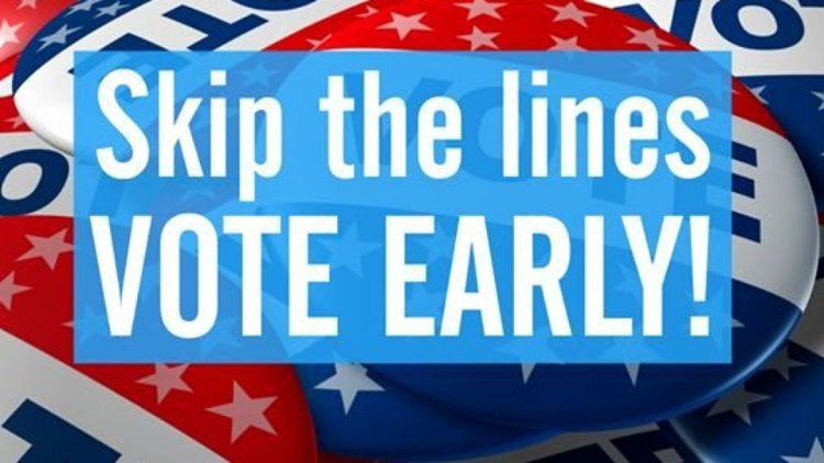 Skip the Lines Vote Early graphic