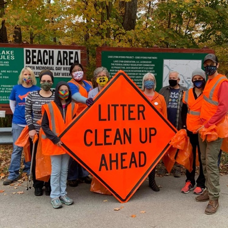 Photo of litter cleanup